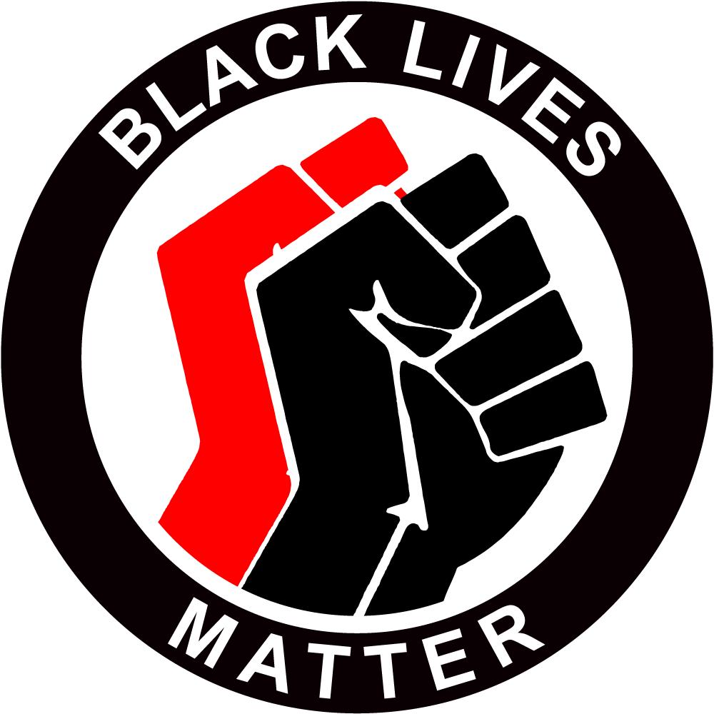 Black Lives Matter Antifa Stijl logo